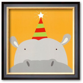 "Art.com Peek-a-Boo VII, Hippo"" Framed Art Print By Yuko Lau"
