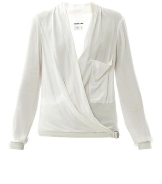 Helmut Lang Morse leather trim top