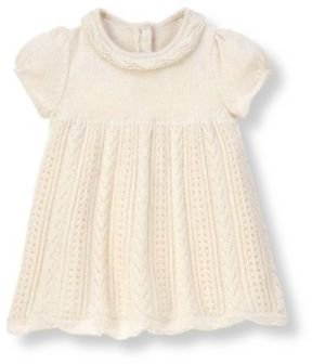 Janie and Jack Hand-Embroidered Pointelle Sweater Dress