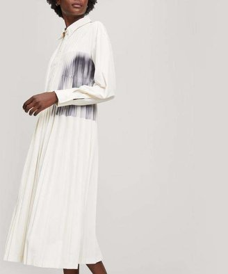 Low Classic Printed Pleated Maxi-Dress