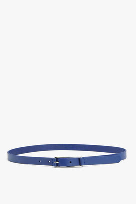 7 For All Mankind Matte Belt In Cobalt Blue