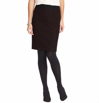 LOFT Curvy Fit Lace Pencil Skirt