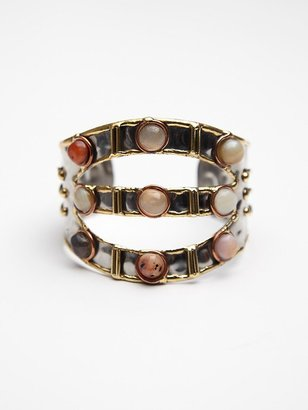 Free People Stone Mid Arm 3 Tier Cuff