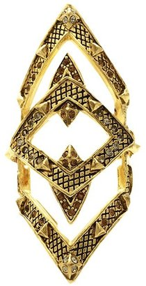 House Of Harlow Pave Jaws Finger Ring