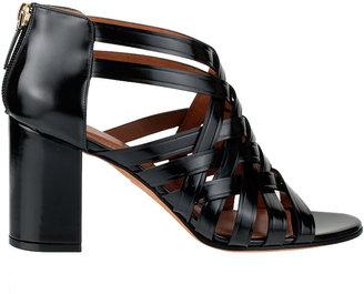 Givenchy Braided shiny leather sandal