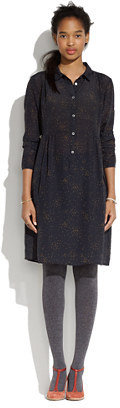 Madewell Attic and barn® elide long-sleeve button-front dress