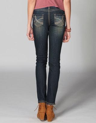 YMI Jeanswear Khaki Stitch Womens Skinny Jeans
