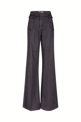 Gerard Darel High-waisted Wide-leg Pants In Jean
