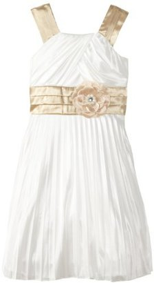 My Michelle Girls 7-16 Grecian-Inspired with Flower At Waist