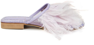 Nora Aÿtch Nora Aytch Farah Violet Feather Slippers