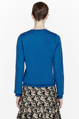 Kenzo Blue Cotton Embellished logo Sweatshirt
