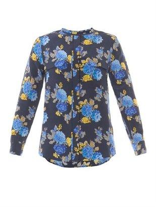 Equipment Lynn floral-print silk blouse