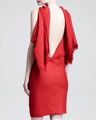 Gareth Pugh Triangle Draped Backless Dress