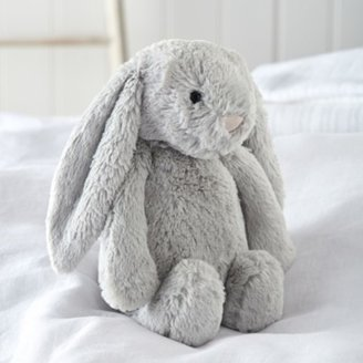 The White Company Jellycat Bashful Bunny Medium Toy, Silver, One Size