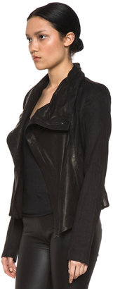 Vince Shawl Collar Leather Jacket