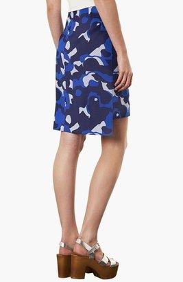 Topshop Camo Print Pencil Skirt