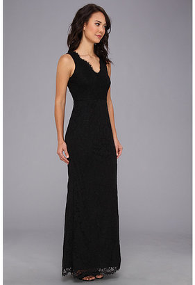 Adrianna Papell Sleeveless V-Neck Lace Gown