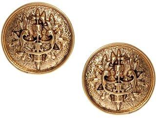 Asos Emblem Coin Stud Earrings