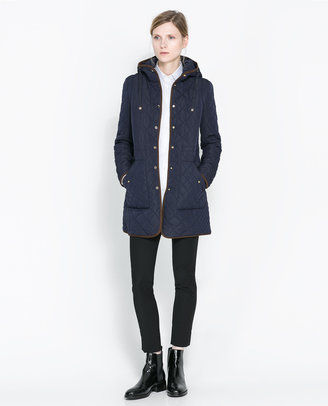 Zara Long Quilted Jacket