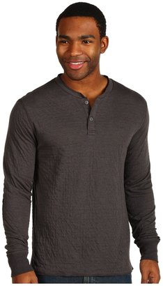 RVCA Logger Henley (Charcoal Heather) - Apparel