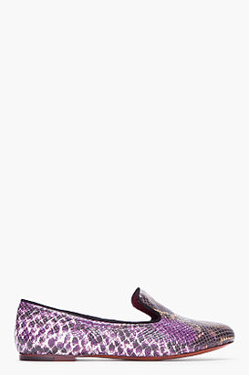 Marc by Marc Jacobs Purple Scaled Leather Loafers