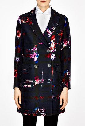 MSGM Multi Floral Print Coat