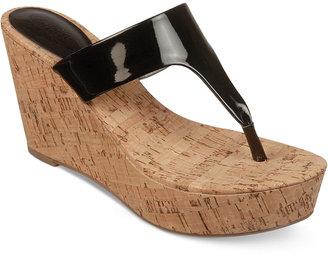 Carlos by Carlos Santana Siren Platform Wedge Thong Sandals