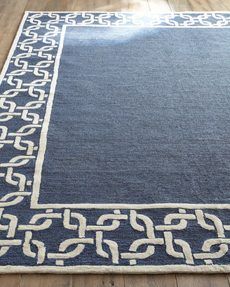 """Horchow """"Border Link"""" Outdoor Rug"""