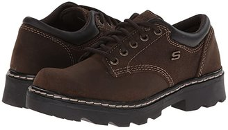Skechers Parties - Mate (Chocolate Scuff Resistant Leather) Women's Lace up casual Shoes