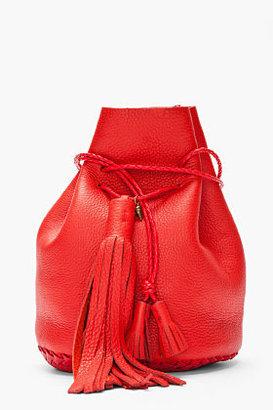 Wendy Nichol Red tassled leather Bullet Bag