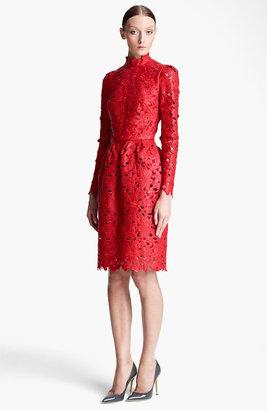 Valentino Laser Cut Leather Dress