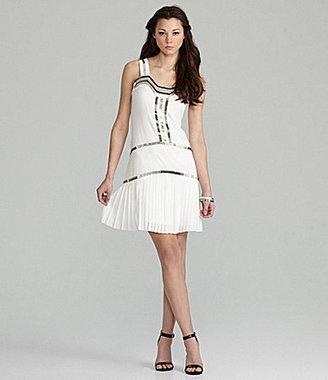 Vince Camuto Beaded Drop-Waist Dress