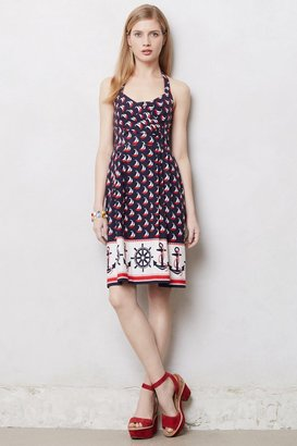 Anthropologie Windward Halter Dress