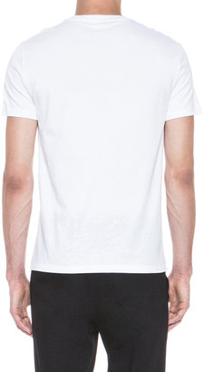 Alexander McQueen 3 Skull Cotton Tee in White & Black