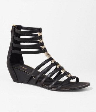 Express Roman Zip Back Wedge Sandal