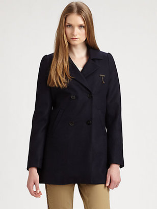 Maison Scotch Double-Breasted Wool Coat