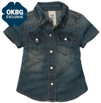 Osh Kosh Short-Sleeve Denim Shirt