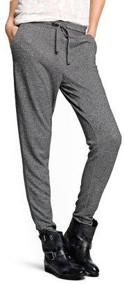MANGO Flecked jogging trousers