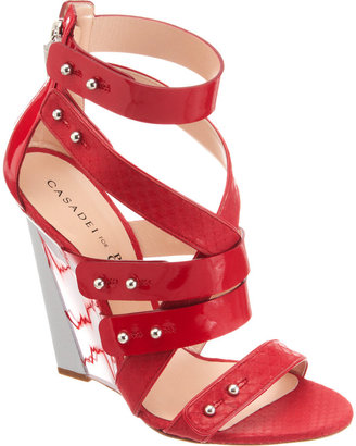 Prabal Gurung Strappy Blade Wedge Sandal