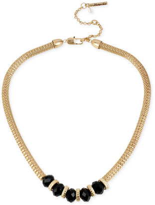 Kenneth Cole New York Gold-Tone Jet Bead Frontal Necklace