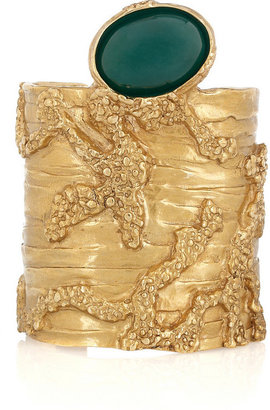 Saint Laurent Arty gold-plated glass cuff