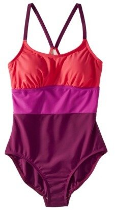Merona Women's Colorblock 1-Piece Swimsuit -Pink