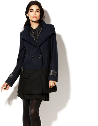 Vince Camuto Double Button Twill Jacket