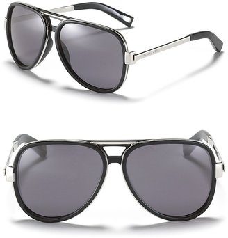 Marc Jacobs Metal and Plastic Aviator Sunglasses