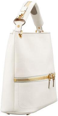 Tom Ford Nina Utility Hobo Bag, Ivory