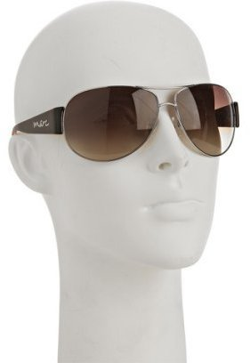 Marc by Marc Jacobs silver metal tortoise detail aviator sunglasses