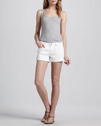 Blank Cuffed Relaxed Denim Shorts