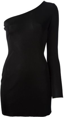 Balmain one shoulder dress