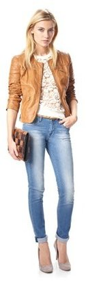 French Connection Lizzie Leather Jacket
