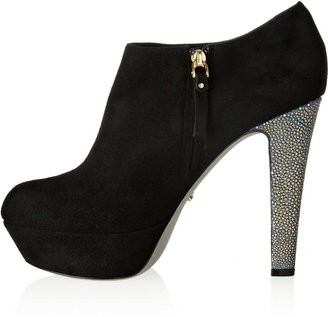 Sergio Rossi Suede and stingray ankle boots